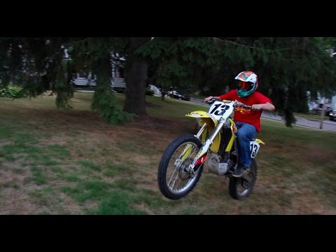 FIRST DIRT BIKE | TOO MUCH POWER!!! (видео)