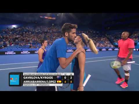 Australia v Spain highlights (RR) - Mastercard Hopman Cup 2017