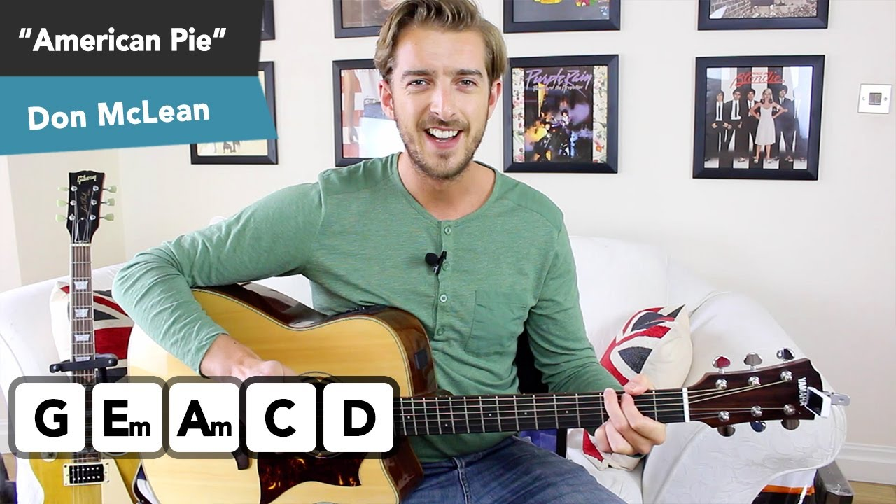 American Pie Guitar Lesson Tutorial – IDEAL FOR BEGINNERS!