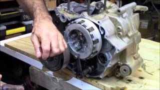 6. Honda Rancher 420 crankshaft part 1 of 4 engine rebuild