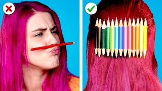 Video 10 Fun and Useful DIY School Supplies Ideas and School Hacks MP3, 3GP, MP4, WEBM, AVI, FLV September 2019