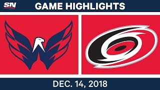 NHL Highlights | Capitals vs. Hurricanes - Dec 14, 2018 by Sportsnet Canada
