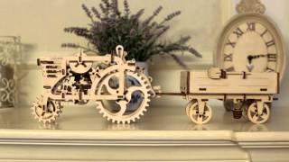 3D пъзел ремарке за трактор