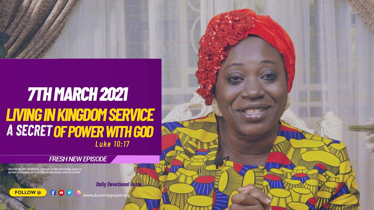 SEEDS OF DESTINY SUNDAY MARCH 7TH 2021 with Dr Becky Paul-Enenche