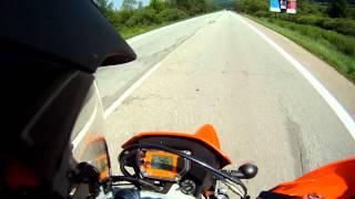 8. Ktm Lc4 640 Sm Acceleration 0-170 km/h