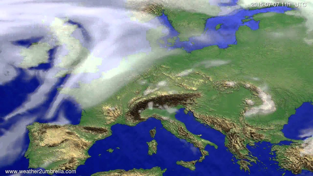 Cloud forecast Europe 2015-07-03