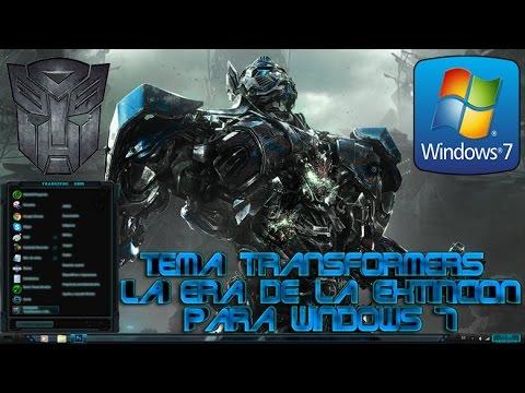 Temas para windows 7 - Hola muy buenas a todos en este tutorial os quiero enseñar como descargar e instalar el fantástico tema de Transformers La Era De La Extincion para Windows 7...