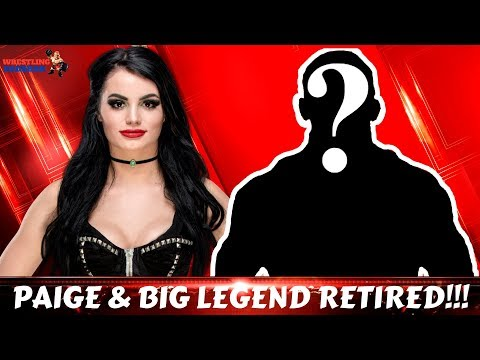 PAIGE & Big Legend retired!!! [Why Paige retired from WWE??]