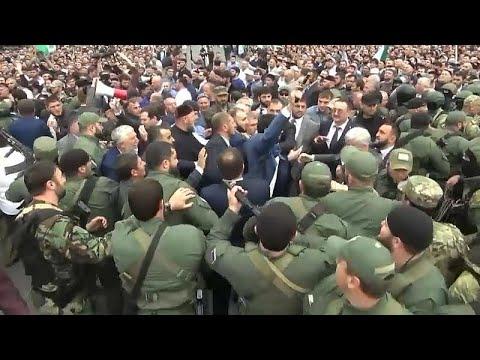 Διαμαρτυρίες για τη συμφωνία Ιγκουσετίας-Τσετσενίας