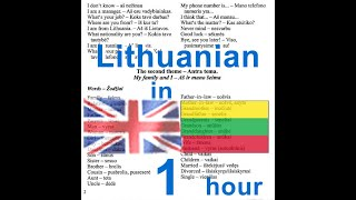 Lithuanian conversation course - listen to English followed by LIthuanian and read the corresponding text on the screen. Learn Lithuanian language lessons ...