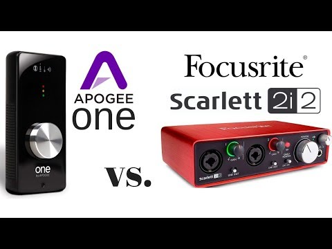 , title : 'Apogee ONE vs Scarlett 2i2'