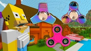 Homer Gets A Fidget Spinner  | The Simpsons | Minecraft Xbox [64]