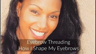 Eyebrow Threading - How I get my Brows Shaped -- Come Along with Me!