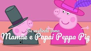 🐷Peppa Pig Português Brasil ⭐️ SE VESTINDO DE MAMÃE E PAPAI