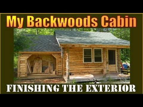 cabin - This is part 2 of ADDING ON TO MY BACKWOODS CABIN. In this segment I'm siding the cabin with Adirondack style siding that I milled from logs on my property. ...