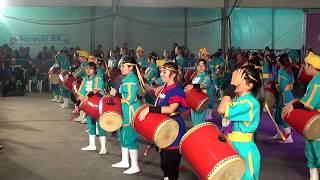 15 okinawa festival realizado a praça Haroldo Daltro ,vila carrão ,são Paulo , Brasil - requios doukoukai eisa taiko , dirigido pela...