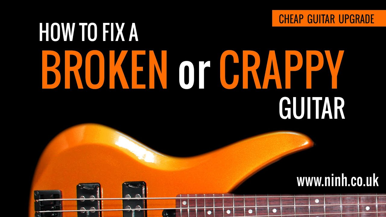 How to Fix Broken or Crappy Guitar – Cheap Guitar Project Upgrade (Yamaha Bass) – EXPLAINED!