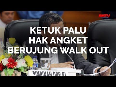 Ketuk Palu Hak Angket Berujung Walk Out
