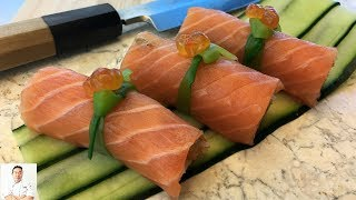 Salmon Everything Roll | How To Make Sushi Series by Diaries of a Master Sushi Chef