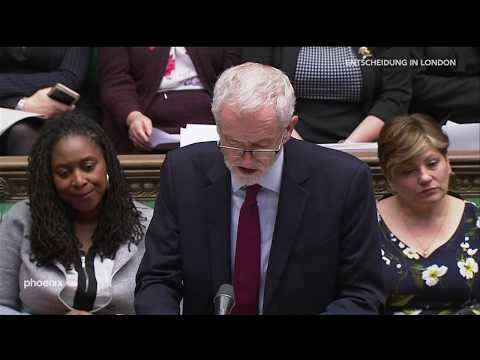 Statement und Reaktion des Labour Chefs Jeremy Corbyn auf Mays Rede zum Brexit am 26.02.19