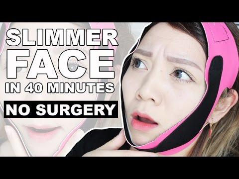 Slimmer Face in 40 Minutes!! NO SURGERY! Korean V Shape Face | Diamond V Fit Mask