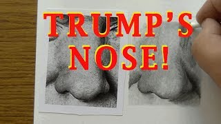 This is a DRAWING TUTORIAL on drawing a nose.  The nose selected is none other than President Trump.  You've never seen the man until you've looked closely at his snoozer!This real-time video demonstrates one method of drawing the nose using graphite pencilsThis is NOT a political video.Instagram Drawings: https://www.instagram.com/rixcandoit/Check out my blog page: http://rixcandoit.blogspot.com/My Tumblr page: http://rixcandoit.tumblr.com/