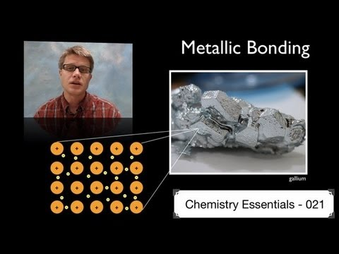 BONDING - 021 - Metallic Bonding In this video Paul Andersen explains how metallic bonding structure creates the different properties of metals. The electron sea model...