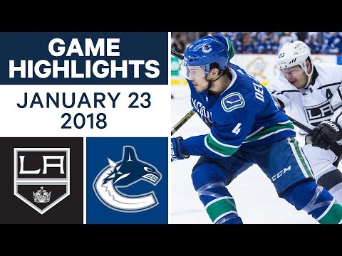 Video: NHL game in 4 minutes: Kings vs. Canucks