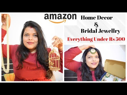 Amazon Bridal Jewellery & Home Decor Haul Under Rs 500 | Preeti Pranav