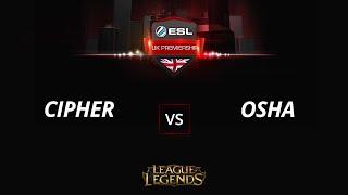 Cipher vs Osha, game 1