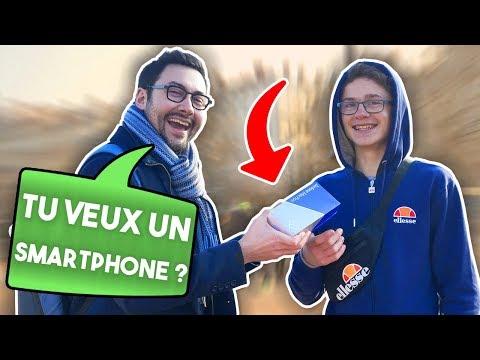 J'offre des Smartphones dans la Rue !