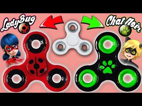 DIY: Crea tu Fidget Spinner de Ladybug y Chat Noir  Miraculous Ladybug