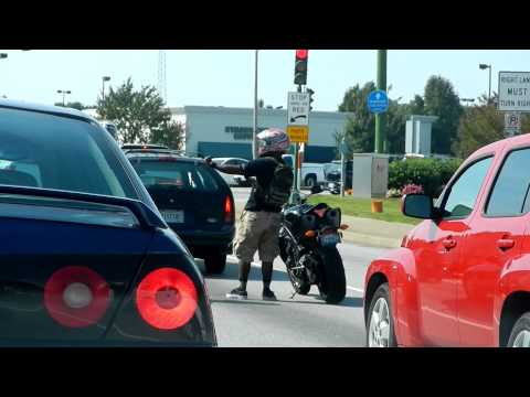 "Motorcycle Biker Dancing ""Lean with it, Rock with it"""