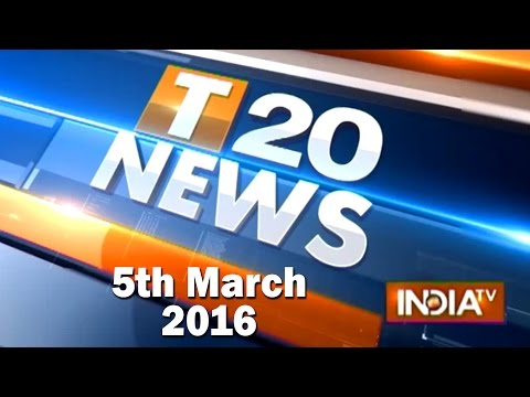 India TV News: T 20 News | March 5 , 2016 - Part 2