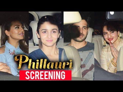 Bollywood Celebs At Phillauri Screening | Anushka