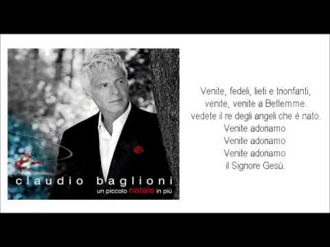 Tekst piosenki Claudio Baglioni - Adeste Fideles po polsku