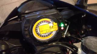 9. Simple: How to pull the diagnostic codes Kawasaki ZX6R . Dealer Mode 1, 2006 636 FI light, F1