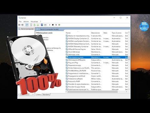Risolvere problema Disco 100% su Windows 10