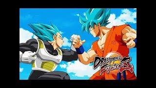 Super Saiyan Blue GOKU vs VEGETA in Dragon Ball FighterZ Trailer (SSGSS Power)