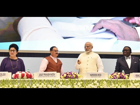PM Shri Narendra Modi inaugurates End-TB Summit in Vigyan Bhawan, New Delhi. Mar 13, 2018
