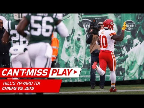 Video: Tyreek Hill Turns on the Jets for 79-Yd TD Catch-'n-Run! | Can't-Miss Play | NFL Wk 13 Highlights