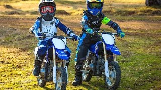 7. Boys First Time On Dirt Bikes - Yamaha TTR 50 (2016) | Gabe and Garrett