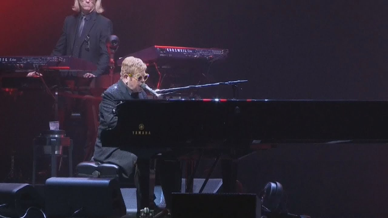 Ο Elton John στο Palau Sant Jordi της Βαρκελώνης