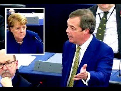 """VIDEO Nigel Farage: """"Wij willen niet de prijs voor Merkel´s fouten in de migratiepolitiek betalen!"""""""