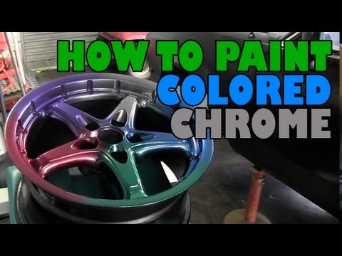 Chrome - Dave uses a chrome paint and some candy colors to get some cool effects similar to anodizing. All products available from http://www.vgautopaints.com.au http...