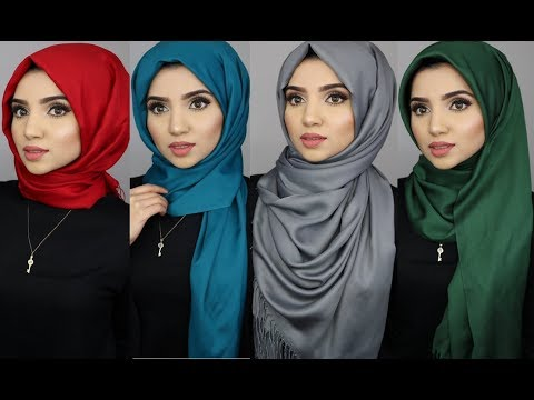 4 Simple Hijab Styles Using Pashmina Scarves