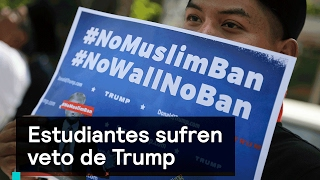 El veto temporal del presidente Donald Trump ha generado una marea de sentimientos de cólera y de dolor en esta parte del mundo. Suscríbete aquí: http://bit....
