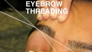 DIY Perfect Eyebrow Threading Tutorial : DIY Get Perfect Eyebrow Shape Using Threading - YouTube
