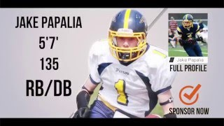 Jake Papalia Class 2019 DB/RB - HESN Football 2K15 highlights