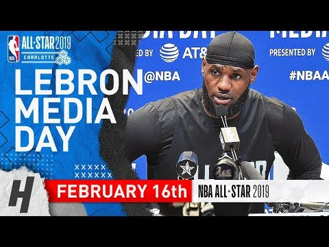 LeBron James Full Interview | February 16, 2019 NBA All Star Media Day